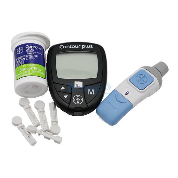 P-6839-ชุดเครื่องตรวจน้ำตาลในเลือด-Bayer-Contour-Plus-3 ชุดเครื่องตรวจน้ำตาลในเลือด Bayer Contour Plus