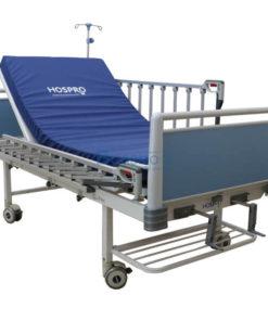 เตียงผู้ป่วย 2 ไกร์ มือหมุน HOSPRO พร้อมเบาะนอน รุ่น Eco