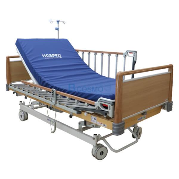 P-6919-เตียงผู้ป่วย-HOSPRO-3-ไก-ไฟฟ้า-ลายไม้-7 เตียงผู้ป่วย HOSPRO 3 ไก ไฟฟ้า ลายไม้ พร้อมเบาะนอน รุ่น Royal