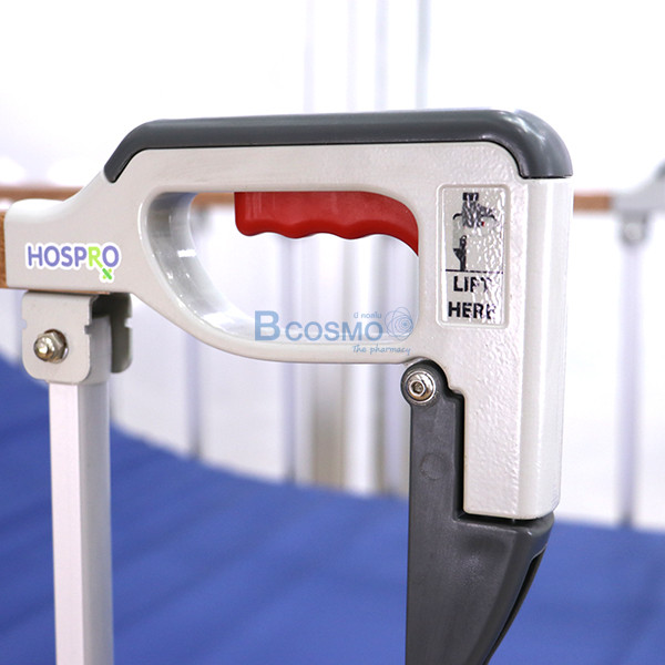 PB0005-W-22-ลายน้ำ เตียงผู้ป่วย HOSPRO 2 ไกร์ มือหมุน ลายไม้ พร้อมเบาะนอน รุ่น Eco