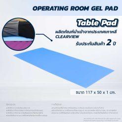 ที่นอนเจลรองนอน CLEARVIEW (Table Pad) AP403