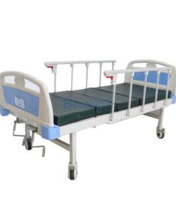 เตียงผู้ป่วย มือหมุน 2 ไกร์ ราวสไลด์ (รุ่นพิเศษ) ฟรีเบาะนอน 4 ตอน