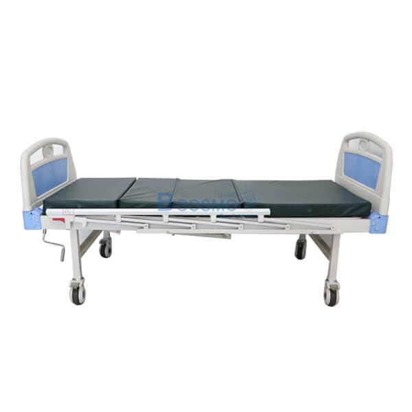 P-5961-เตียงผู้ป่วย-HOSPITAL-BED-มือหมุน-2-ไกร์-หัวท้าย-ABS-ราวสไลค์-พร้อมเบาะนอน-4-ตอน เตียงผู้ป่วย มือหมุน 2 ไกร์ ราวสไลด์ (รุ่นพิเศษ) ฟรีเบาะนอน 4 ตอน