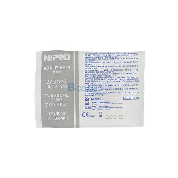 "P-6396 - สก๊าวเวน ยี่ห้อ นิโปร SCALP VEIN NIPRO No.27 x 3/4"" EF0901-01-27"