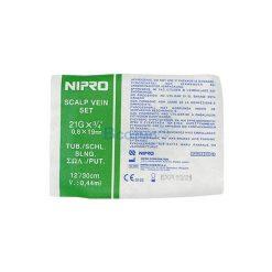 สก๊าวเวน ยี่ห้อ นิโปร SCALP VEIN NIPRO No.21 x 3/4″ แพ็ค 50 ชิ้น