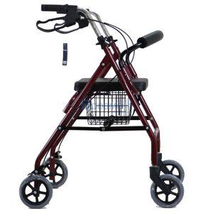 Wheelchair Rollator รถเข็นหัดเดิน 2 in 1 ล้อ 6 นิ้ว สีแดง Y861L