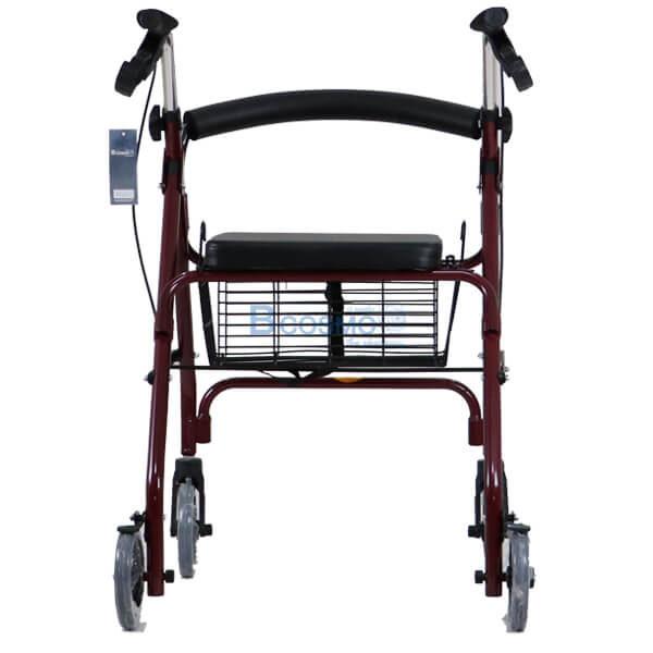 P-6765 - Wheelchair Rollator รถเข็นหัดเดิน 2 in 1 ล้อ 6 นิ้ว สีแดง Y861L-8