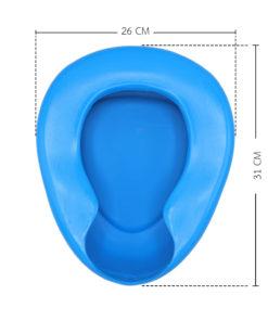 หม้อนอนพลาสติกสีฟ้า Bed Pan Plastic (B-01)