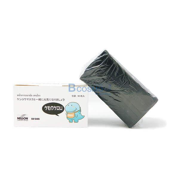P-6969 - หน้ากากอนามัย เคนโกะ Face Mask-Carbon Black (คาร์บอนสีดำ) 50 ชิ้นกล่อง-4