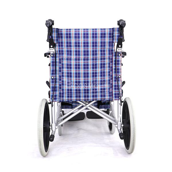 WC0702-BL-6-ลายน้ำ รถเข็นผู้ป่วย อลูมิเนียมอัลลอยด์ รถเข็นพับได้ ล้อ 16 นิ้ว สีฟ้า