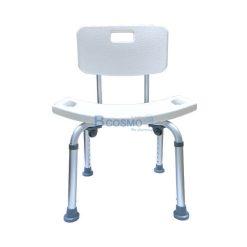 เก้าอี้นั่งอาบน้ำ มีพนักพิงโค้งเล็ก สำหรับผู้ป่วย สีขาว
