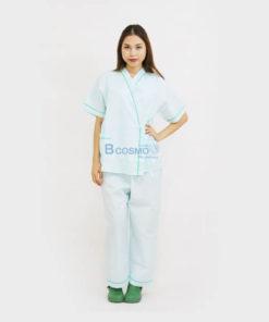 ชุดผู้ป่วยในโรงพยาบาล สีเขียว