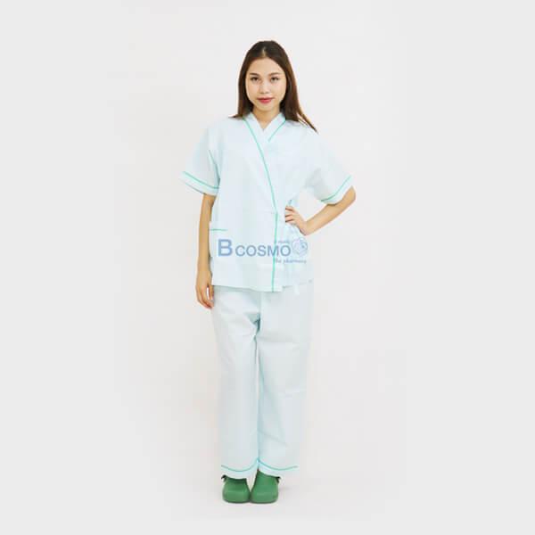 MT0501-S-GR-MT0501-M-GR-MT0501-L-GR-MT0501-XL-GR-ชุดผู้ป่วยในโรงพยาบาล-ชุดคนไข้-สีเขียว-4 ชุดผู้ป่วยในโรงพยาบาล สีเขียว