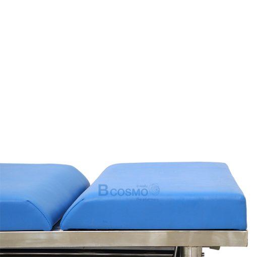 MT0801-EB0201 เตียงตรวจโรค สแตนเลส (ทรงเหลี่ยม) - บันไดสแตนเลสขึ้นลงเตียง 2 ขั้น