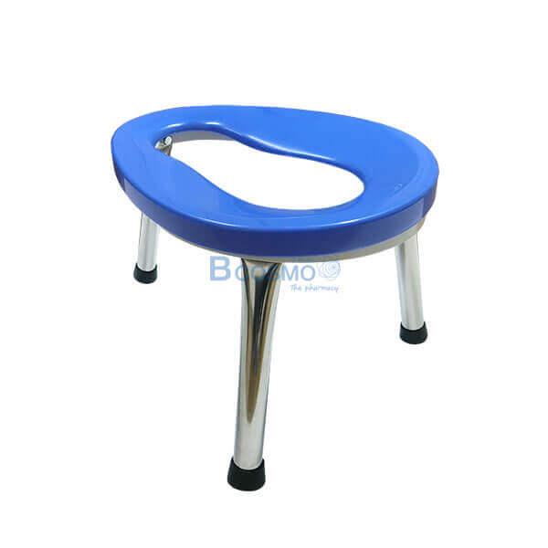 P-7109 ET0105-S - เก้าอี้นั่งถ่าย 3 ขา ขนาดเล็ก สีน้ำเงิน สูง 30 ซม.