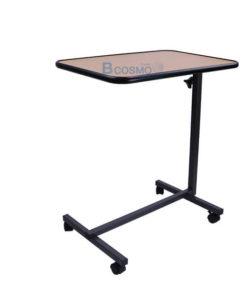 โต๊ะคร่อมเตียง พับถาดวางอาหาร สีไม้
