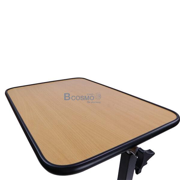 EB0007-WO - โต๊ะคร่อมเตียง พับถาดวางอาหาร สีไม้-5