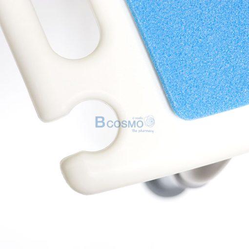 ET0010-เก้าอี้นั่งอาบน้ำ ไม่มีพนักพิง ที่นั่งฟ้า CST-3011 สีขาว