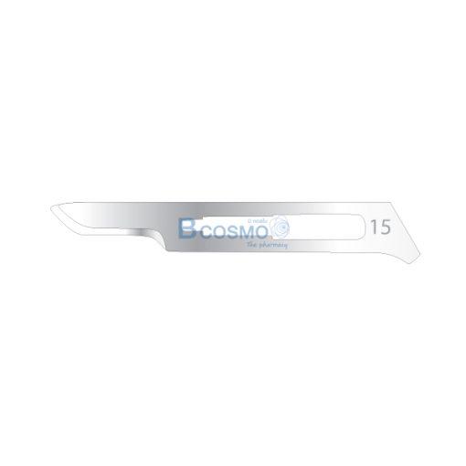 MT0043-15 ใบมีดผ่าตัด สแตนเลส FEATHER เบอร์ 15