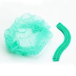 หมวกตัวหนอนสีเขียว  1 แพ็ค 50 ใบ