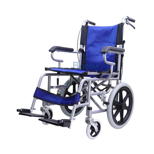 P-7201 WC0703-BL - รถเข็นเหล็กล้อ 16 นิ้ว 7944 WHEELCHAIR สีฟ้า