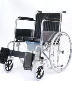 รถเข็นผู้ป่วย นั่งถ่ายพับได้ โครงสร้างจากเหล็ก รุ่น FS609U