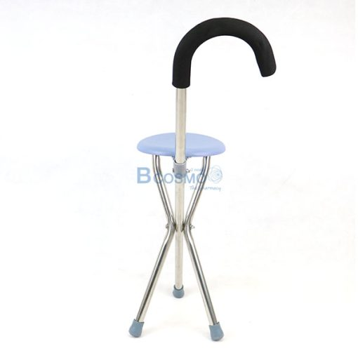 EW0017-ไม้เท้าเก้าอี้กลม สแตนเลส