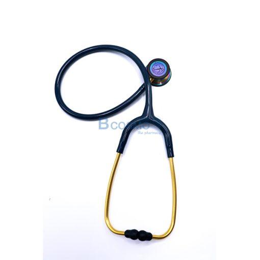 MT0106-CBR-หูฟังแพทย์ STETHOSCOPE 3M สีฟ้าทะเล หัวสีรุ้ง