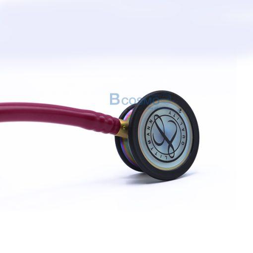 MT0106-RAR-หูฟังแพทย์ STETHOSCOPE 3M สีชมพูเข้ม หัวสีรุ้ง