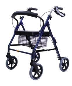 Wheelchair Rollator รถเข็นหัดเดิน 2 in 1 ล้อ 8 นิ้ว สีน้ำเงิน Y882L