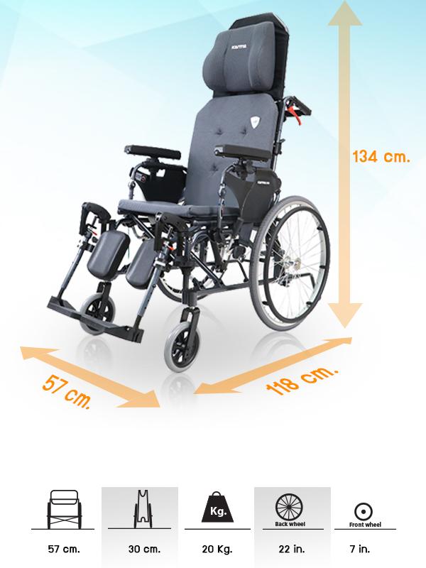 WC1501-รถเข็นปรับนอน-WHEELCHAIR-KARMA-KM5000.2_D5 รถเข็นปรับนอน WHEELCHAIR KARMA KM5000.2