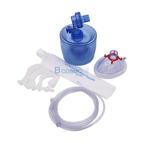 EO0507-อุปกรณ์ช่วยหายใจมือบีบ-FOLEE-Ambu-Bag-PVC-สีฟ้า-9 อุปกรณ์ช่วยหายใจมือบีบ FOLEE Ambu Bag PVC สีฟ้า