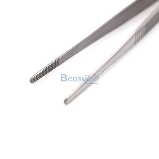 MT0023-12.5-15-121-ปากคีบไม่มีเขี้ยว DRESSING FORCEPS 12.5 cm.