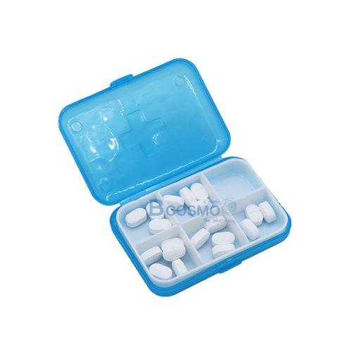 PA1709-BL-กล่องจัดชุดยา-6-ช่อง-สีน้ำเงิน