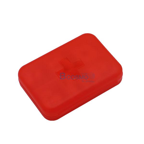 PA1709-R-กล่องจัดชุดยา-6-ช่อง-สีแดง