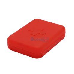 กล่องจัดชุดยา 6 ช่อง สีแดง