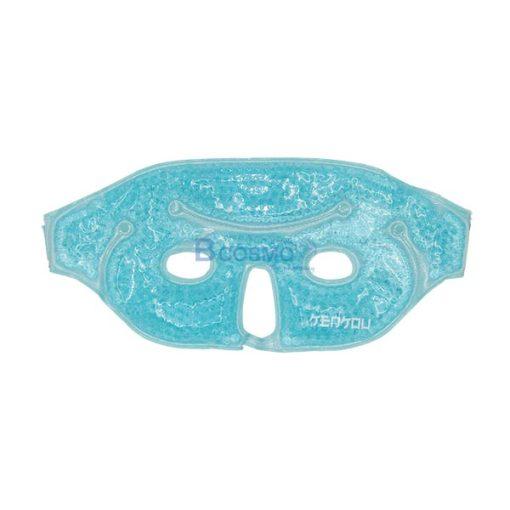 PA2201-MBL-P-6960-อุปกรณ์ประคบร้อนเย็นเคนโกะ หน้ากาก Gel Bead-Face Mask Blue