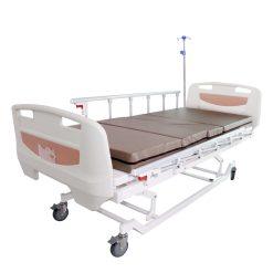 เตียง XH-JJ-D 3 ไก ไฟฟ้า ราวสไลด์ พร้อมเบาะนอน 4 ตอน สีครีม