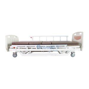 เตียงผู้ป่วย XH-JJ-D 3 ไก ไฟฟ้า ราวสไลด์ พร้อมเบาะนอน 4 ตอน สีครีม