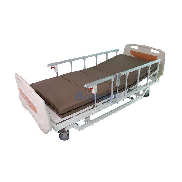 เตียงผู้ป่วย-XH-JJ-D-3-ไก-ไฟฟ้า-ราวสไลด์-พร้อมเบาะนอน-4-ตอน-สีครีม