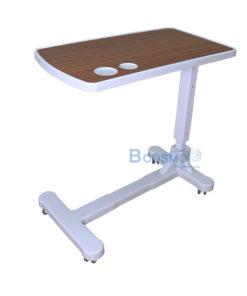 โต๊ะคร่อมเตียง ถาด ABS ลายไม้