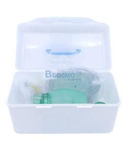 อุปกรณ์ช่วยหายใจมือบีบเด็ก Compower y-2 Ambu Bag PVC สีเขียว