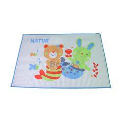 ผ้ายางธรรมชาติรองนอน NATUR SIZE 45*60 cm. สีฟ้า