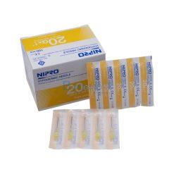 [1 กล่อง 100 ชิ้น]  เข็มฉีดยา ยี่ห้อ นิโปร เบอร์ 20Gx1