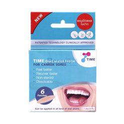 แผ่นปิดแผลในปาก Time Oral Ulcer Patch 1.5 cm.x 6 ชิ้น