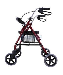 Wheelchair Rollator รถเข็นหัดเดิน 2 in 1 ล้อ 8 นิ้ว แดง Y882L
