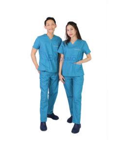 ชุดเจ้าหน้าที่ทางการแพทย์ ANNO สีฟ้าเขียว