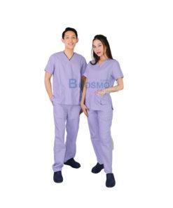 ชุดเจ้าหน้าที่ทางการแพทย์ ANNO สีม่วงอ่อน