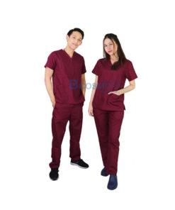 ชุดเจ้าหน้าที่ทางการแพทย์ ANNO สีน้ำตาลแดง