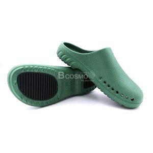 MT0213-L-B-GR-3-ลายน้ำ-300x300 รองเท้าโรงพยาบาลกันลื่น สีเขียวพื้นดำ
